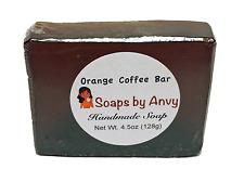 Handmade Soap - Single Bar Natural Organic Vegan Orange Coffee Bar