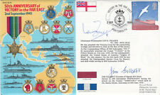 6RN16c  50th Anniv of Victory in the Far East Signed Fraser VC holder, J Gilbert