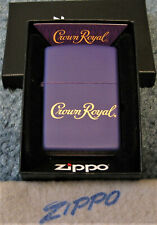 ZIPPO CROWN ROYAL Lighter PURPLE & BRASS Whiskey 49460 LASED ENGRAVE Sealed NEW