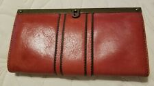 Fossil Kayla Frame Clutch Wallet, RED, EUC
