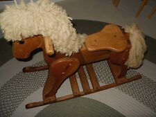 SOLID WOOD ROCKING HORSE VINTAGE GENTLY USED CONDITION - QUALITY MADE