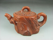 Exquisite antique Chinese Yixing Purple Sand Teapot Details about bamboo #07