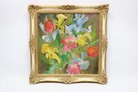 Gemälde Blumenstrauß Stillleben Lucien Ruolle