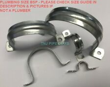 "20 X Steel Pipe, Tube, Cable Clamp, Saddle Fixing - 1/8"" to 2"" / 10mm to 60mm"