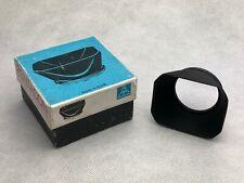 Pentacon Metal Lens Hood 49mm M49 Carl Zeiss Jena Pancolar Biotar Primoplan Box