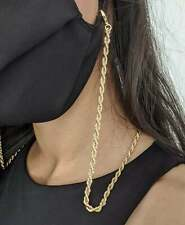 Mask Chain & Glasses Chain - 18ct Gold Plated Necklace (ROPE STYLE)