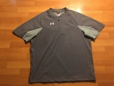 UnderArmour All Season Gear 1/4 Zip Short Sleeve Shirt Men's Size Medium M Gray