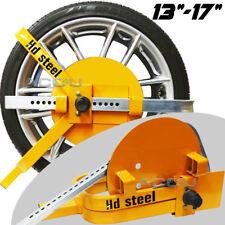 """HD Steel 13"""" 14"""" 15"""" 16"""" 17"""" Caravan Van Motorhome Car Security Wheel Clamp Lock"""