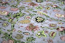 Indian Screen Printing Fabric By The Yard Floral Printed Pure Cotton Fabric