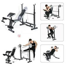 TOMSHOO Gym Total Body Workout Bench Set Home Fitness Exercise Weight Lifting