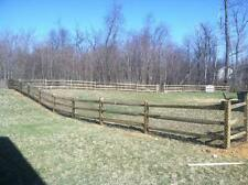 300' of 3 Rail Split Rail Wooden Fence Package with Gate! ACQ Treated Pine