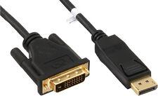 InLine Premium DisplayPort zu DVI Konverter Kabel, schwarz, 3m
