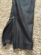 Designer Matthew Williamson -Skinny Shiny Leggings Size 10 With Ankle Zip