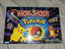 Pokemon Monopoly Board Game Hasbro Collectors Edition Vtg MINT Sealed Contents