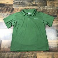Columbia Short Sleeve Polo Shirt Adult Men's Size Large Omni-Freeze Cooling