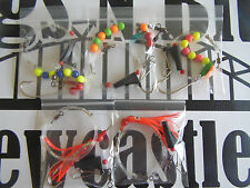 Sea fishing Boat Rigs x 5 Sliding rigs, Ledgers, Uptide - Strong Boat rigs - Cod