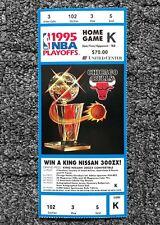 1995 Chicago Bulls Basketball NBA Playoff Ticket Stubs 90's Michael Jordan Era K