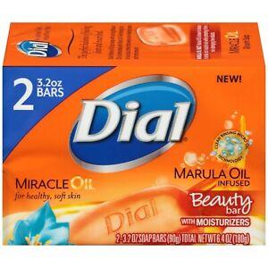Dial Miracle Marula Oil Glycerin Moisturizing Beauty Bar Soap [3.2 oz/2 pk]