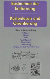 Bestimmen der Entfernung // Kartenlesen & Orientierung / Anleitung / Buch / NEU!