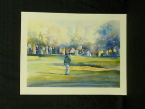 "Vivien Weller Arnold Palmer ""Arnie's Army"" Golf Limited Edition Lithograph"