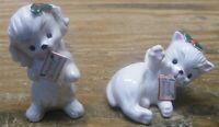 Pair of Vintage Napco Japan Ceramic Kitten Angels