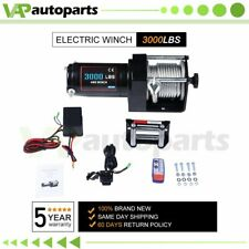 12V Electric Cable Winch Rope Atv Utv 3000lb Recovery Tow Boat Trailer w/ Remote