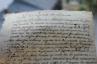 1714 king louis XIV Marquis manuscript justice parliement request document RARE