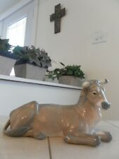 Lladro 1390 Cow Ox Nativity Figurine Mint Condition with Box Fast Shipping!