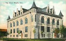 Tennessee, TN, Memphis, High School Early Postcard