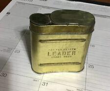 NOS RARE Antique Coal Mining Carbide Tin  Leader Carbide Container 1923
