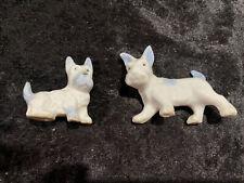 Vintage Dog Figurine Terrier Schnauzer (2) Japan