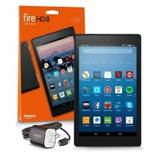 All New Amazon Kindle Fire HD 8 Tablet 16 GB 7th Generation 2017 Release Blue