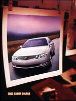 2002 Toyota Highlander Original Sales Brochure
