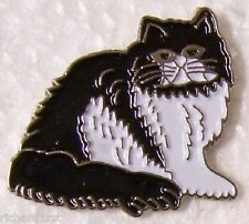 Hat Lapel Pin Scarf Clasp Cat Persian American NEW