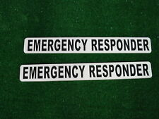 EMERGENCY RESPONDER Magnetic signs 3x24 for Car Truck Van SUV Pair Fire EMS EMT