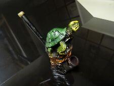 Green Turtle   Ceramic Tobacco Pipe ,5 Screens < Glass Alternative   PM 1527