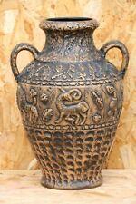 51cm Très grand Vase WEST GERMANY JASBA décor Aztèque