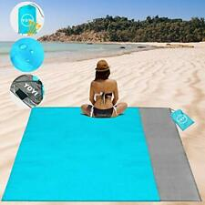 New listing Beach Blanket Sand Proof Lightweight Pocket Blanket also for Travel and Camping