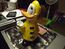 "Walt Disney Production 9"" Tall Donald Duck Yellow Raincoat Ceramic Estate Sale"