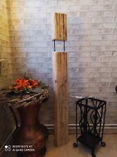 Stehlampe Holz Holzbalken Retro Rustikal Vintage Einzigartig 120cm