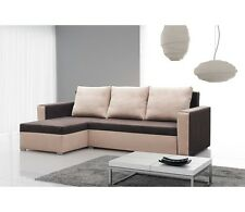 New Corner Sofa Bed with Storage MOJITO BROWN Best Quality Free Delivery FABRIC