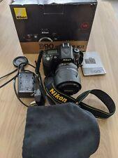Nikon D90 SLR, lente 18-105 VR Nikkor Y Caja Original. solo 3,819 obturador Conde