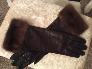 Gloves 100% Leather / Real Mink