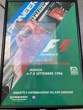 Ferrari F1 Monza Italian Grand Prix 1996 Schumacher Original Poster 96cm x 66cm