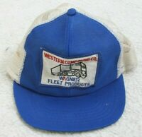 Western Compound Co. Blue White Baseball Hat Adult Mens Cap Snapback Polyester
