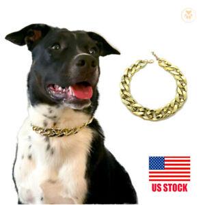 Dog Collar Gold / Rose Chain - Streetwear Cuban Fashion Necklace Pet Jewelry