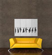 POSTER Stampa Pittura Graffiti Monty Python SILLY Passeggiata Stop Motion effetto seb481