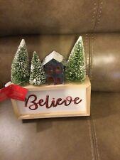 "St. Nicholas Square Happy Hollydays Led ""Believe"" Light Table Decor (New)"