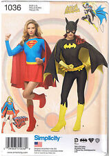 Super Girl Bat Girl DC Comics Simplicity Costume Sewing Pattern 14 16 18 20 22