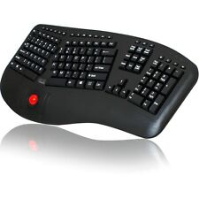 Adesso Tru-form 3500 - 2.4ghz Wireless Ergonomic Trackball Keyboard (wkb3500ub)